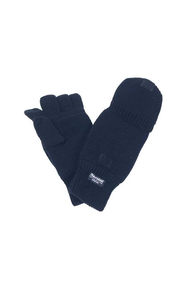 Guanto uomo caldissimo mezze dita con cappuccio foderato.