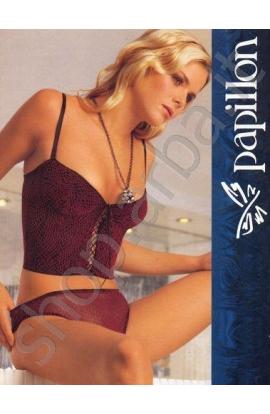 Bustino corsetto Valzer tulle foderato reggiseno balconcino