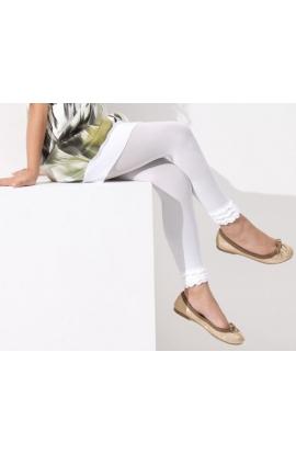 Legging bimba Meraviglia coprente con balza di pizzo in caviglia