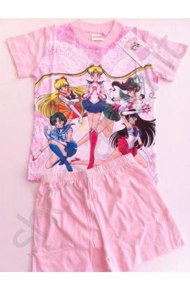 Pigiama bambina corto Sailor Moon cotone estivo 420SA
