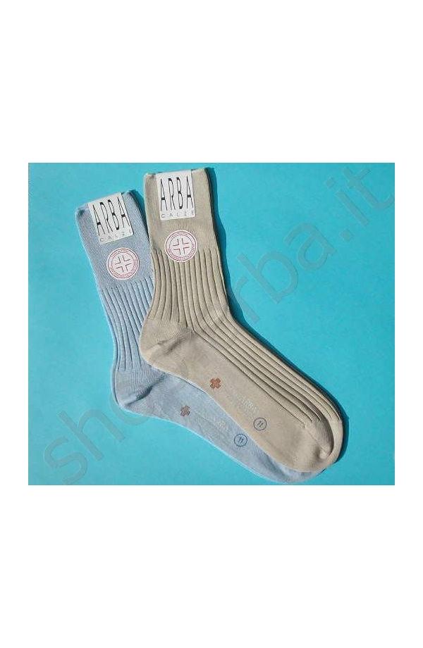 Calza sanitaria corto Filo di Scozia elastico supersoft mai più segni dell'elastico.