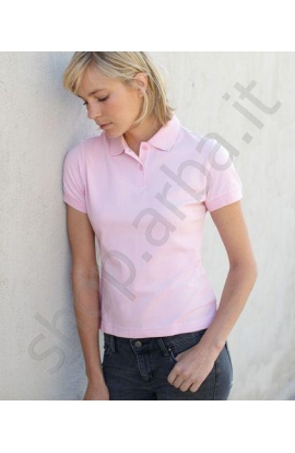 Polo donna Fruit of the Loom cotone mezza manica