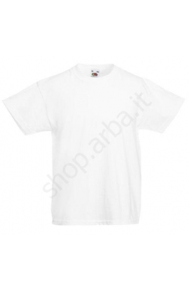 3 T-shirt bimbo Fruit of the Loom original confezione da 3 pezzi