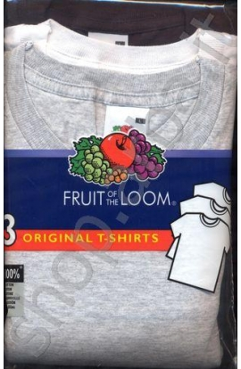 3 T-shirt uomo Fruit fo the Loom original PREMIUM COLORI ASSORTITI