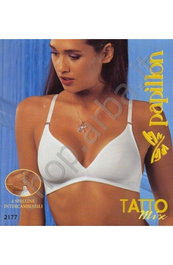 Reggiseno spallina trasparente Tatto Mix 2177 colore nero