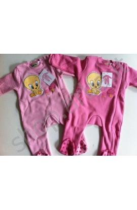 Tutina per neonata cotone felpato baby Looney Tunes 402LBA