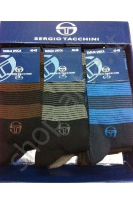 Calza uomo rigata Sergio Tacchini caldo cotone invernale 706
