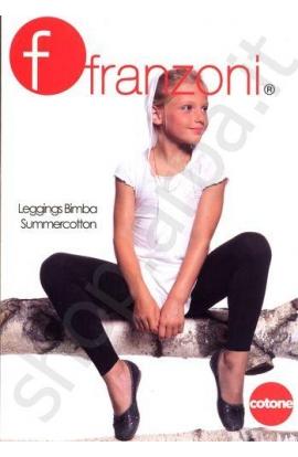 Legging bambina estivi in cotone leggero Summercotton Franzoni