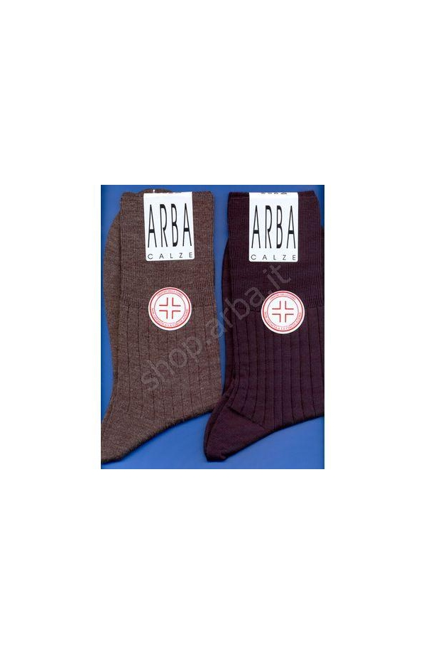 Calza Sanitaria corto lana 70% elastico supersoft