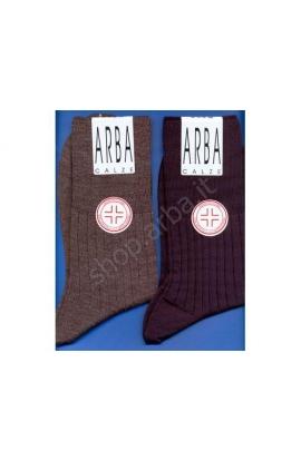 Calza Sanitaria gamba corta lana 70% elastico super morbido rimagliata a mano
