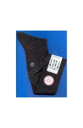 Calza Sanitaria gamba lungo lana 70% elastico super morbido rimagliata a mano