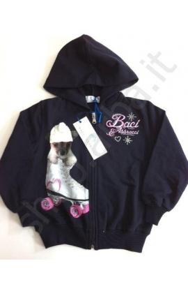 Felpa per bambina maglia originale Baci & Abbracci