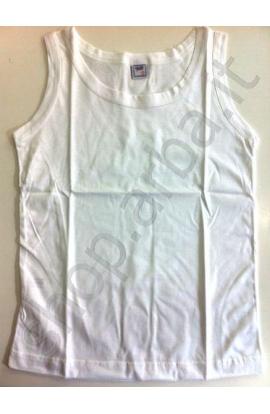 Canottiera spalla larga per bimbo 100% cotone maglia rasata Lucas 8513
