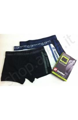 Boxer Lotto cotone elasticizzato banda laterale 0107LS