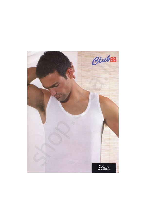 Canotta spalla larga 100% cotone jersey 410006