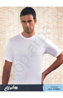 Maglia mezza manica giro collo 100% cotone qualita' superiore 410001