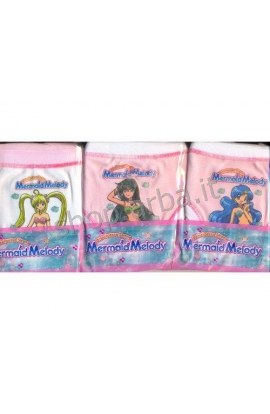 Slip Mermaid Melody bambina 100% cotone Fish
