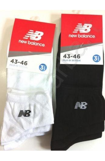 NBU63 midi calza New Balance uomo confezione 3 paia BIANCO