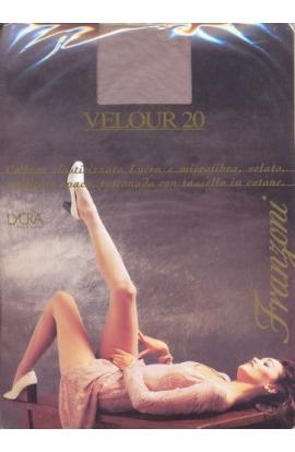 Collant elegantissimo per cerimonia color grigio perla Velour 20