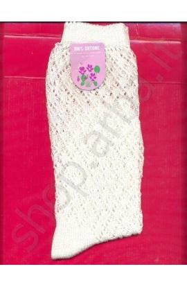 Calza bimbo traforata per cerimonia cotone 100%