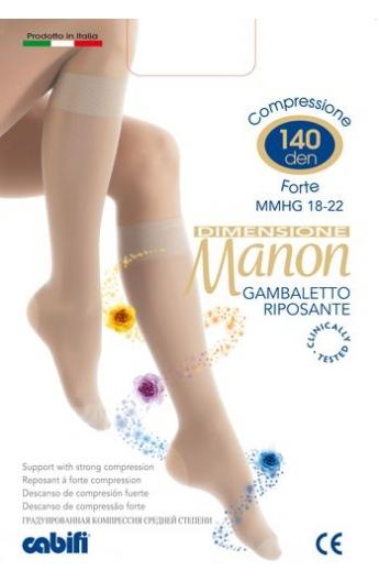 Gambaletto 140 den riposante compressione graduata forte Manon per vene varicose