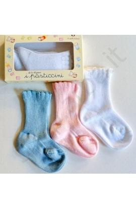 Calzini neonato per i primi giorni 100% cotone art. 88