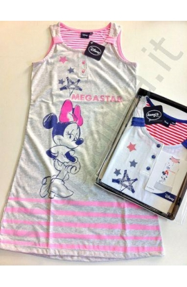 Camicia da notte spalla larga ragazza Disney EWDR528 Bianco