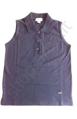 Polo smanicata donna piquet (tipo Lacoste) cotone 100%