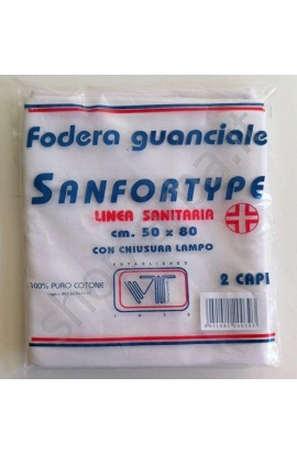 Coppia di Sotto federa copri cuscino igienica sanforizzata linea sanitaria