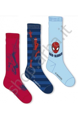 Calza lunga bimbo caldo cotone invernale Spiderman 9206
