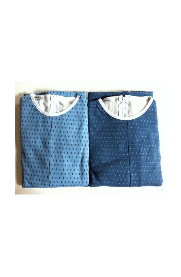 1000 Pigiamone Tutone maschile per anziani invernale medio peso cotone interlock con cerniera posteriore 1000. IVA 4%