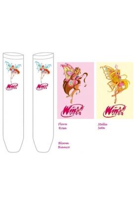 Gambaletti Winx bimba microfibra Winx Bloom Flora e Stella art. Piuma