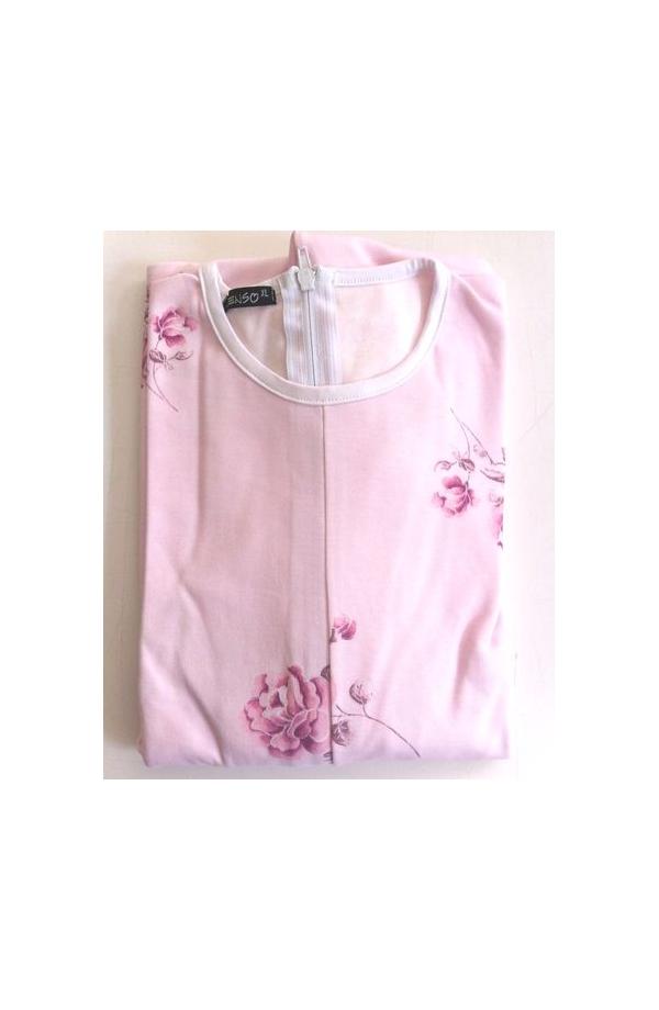 1002 Pigiamone Tutone femminile autunno inverno per anziani cotone 100% con cerniera posteriore peso medio art. 1002 IVA 4%