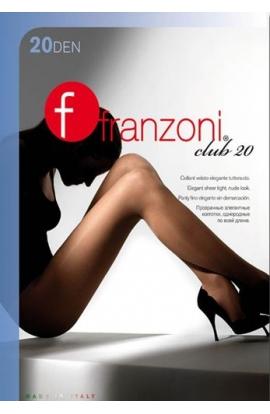 Collant Club 20 Franzoni velato elasticizzato tuttonudo tassello cotone
