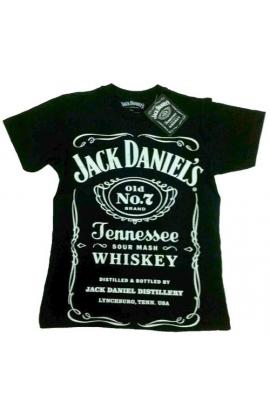 T-shirt Jack Daniel's uomo o ragazzo originale 100% cotone