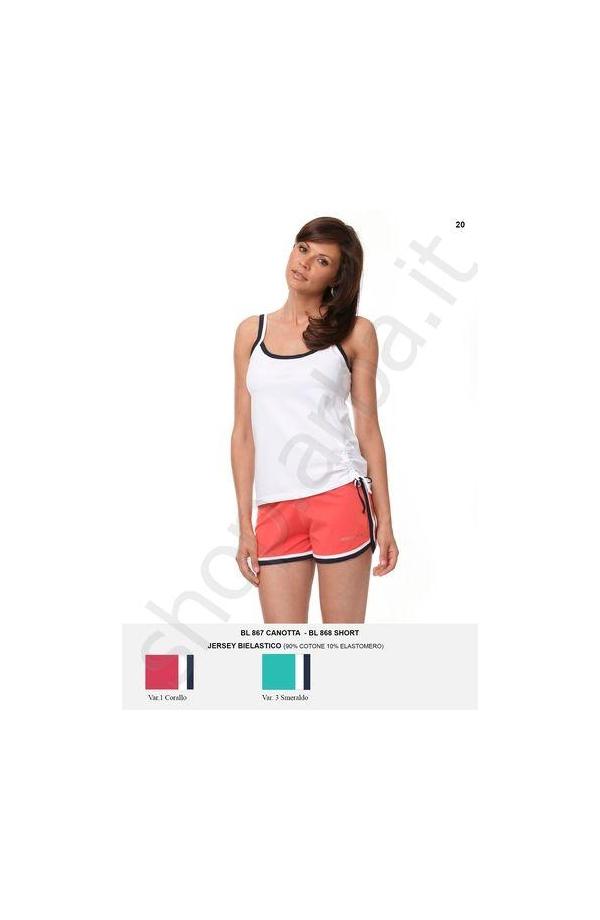 Promozione delle vendite sito affidabile seleziona per il meglio Pantaloncino sportivo donna con bordo cotone BL868 misura L