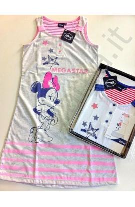 Camicia da notte donna spalla larga cotone Disney EWDN628