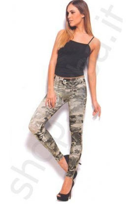 Jegging o leggings originali militar chic elasticizzati