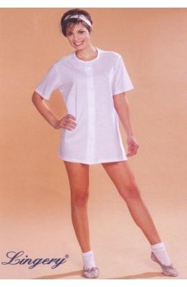 Camicia per gestante corta adatta per travaglio aperta 100% cotone mezza manica