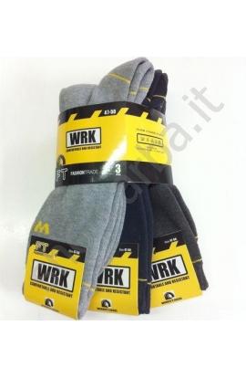 3 paia Calze antinfortunistica gamba corta rinforzo speciale WRK 3 paia