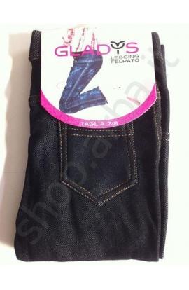 Leggings jeans per bimba felpati invernali elasticizzati 1581/1663