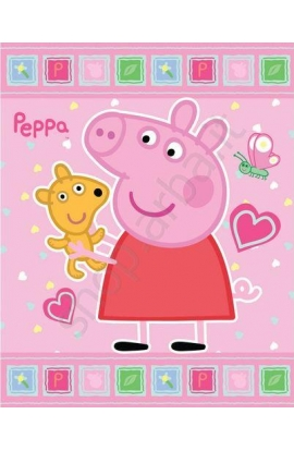 Plaid o coperta in pile Peppa Pig 120x140 cm.