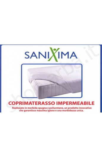 Coprimaterasso letto due piazze 180X200 SANIXIMA in spugna IMPERMEABILE