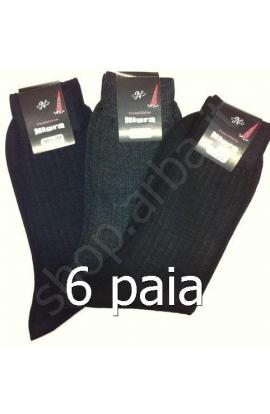 6 paia di calze per uomo 80% lana Merinos gamba corta 127C