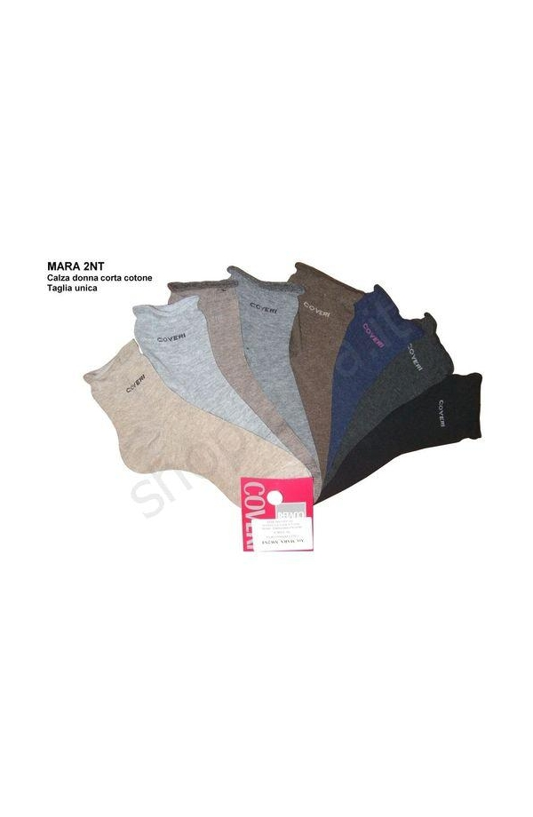Calza Coveri donna corta caldo cotone con elastico morbido Mara 2C/NT