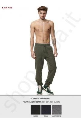 Pantalone tuta felpato invernale per uomo OXIGYM 286 con polsino