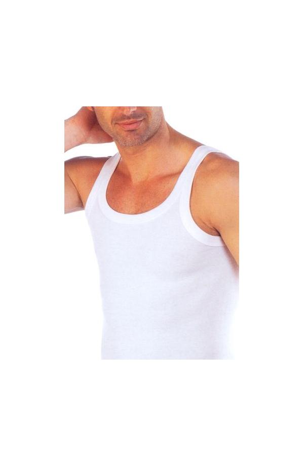 Canottiera spalla stretta microcostina uomo Filam 1211 BIANCO