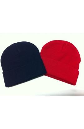 Cappello bimbo cuffietta invernale taglia unica con risvolto.