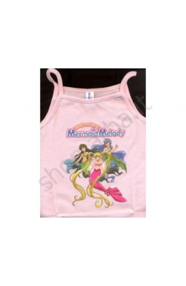 Top spallina Mermaid Melody cotone 100% Blue Mermaid Melody