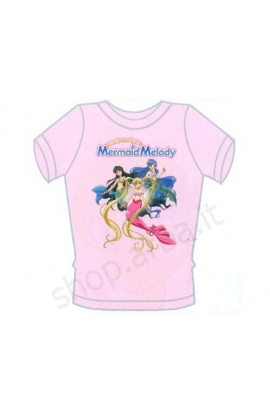 T-shirt Mermaid Melody cotone 100% mezza manica Bubble Mermaid Melody
